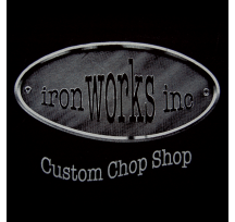 Mens Iron Works Short Sleeve Front & Rear Print